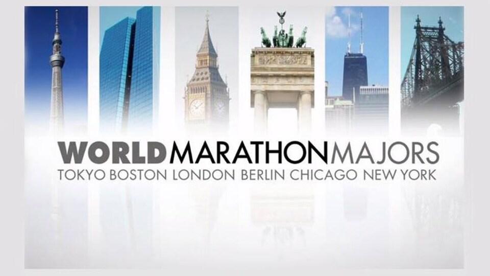 L'association World Marathon Majors, qui regroupe les marathons de Tokyo, Boston, Londres, Berlin, Chicago et New York