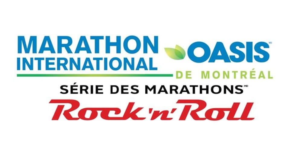 Le logo du Marathon international de Montréal.
