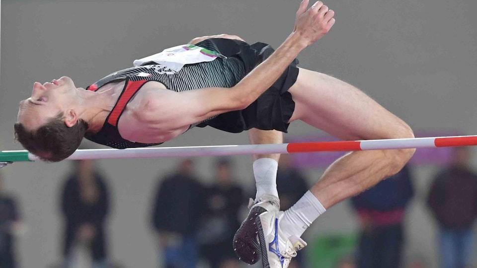 Michael Mason en finale du saut en hauteur des Jeux panaméricains