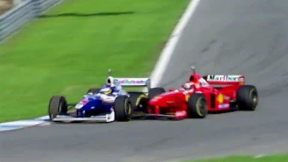 Jacques Villeneuve et Michael Schumacher à Jerez en 1997