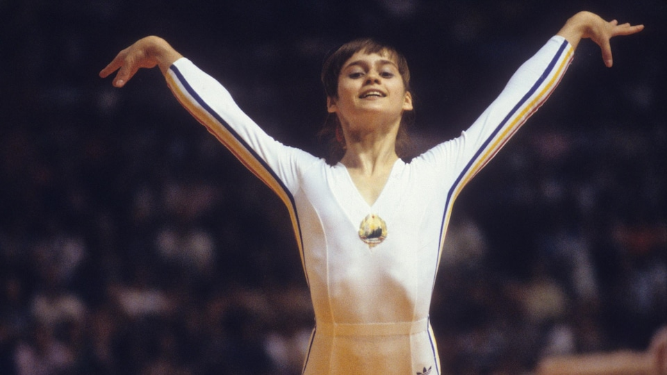 Nadia Comaneci aux Jeux olympiques de Montréal en 1976