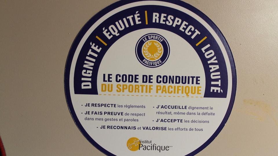 Le code de conduite du sportif pacifique