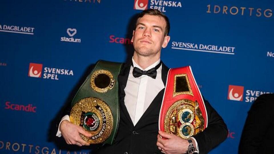 Le boxeur Sven Fornling photographié, le 21 janvier dernier, au gala annuel du sport suédois