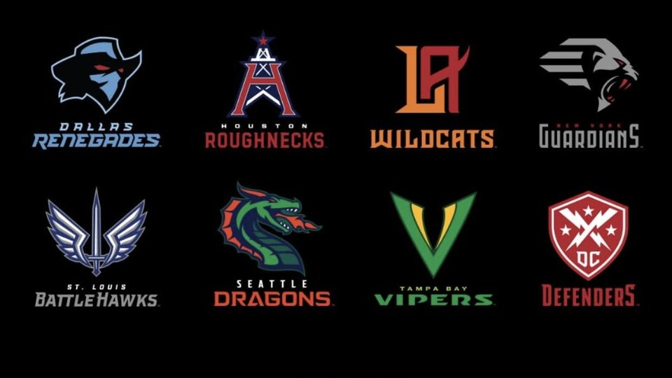 Les logos des équipes apparaissent sur fond noir.