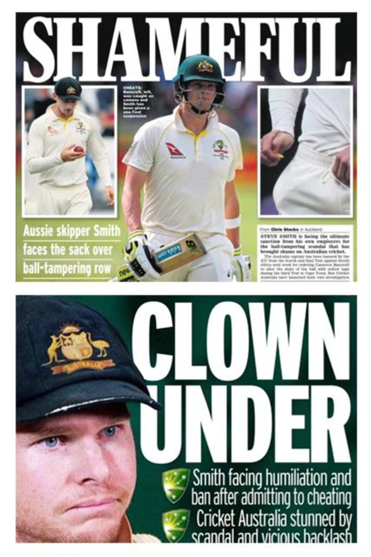 Les titres des journaux australiens