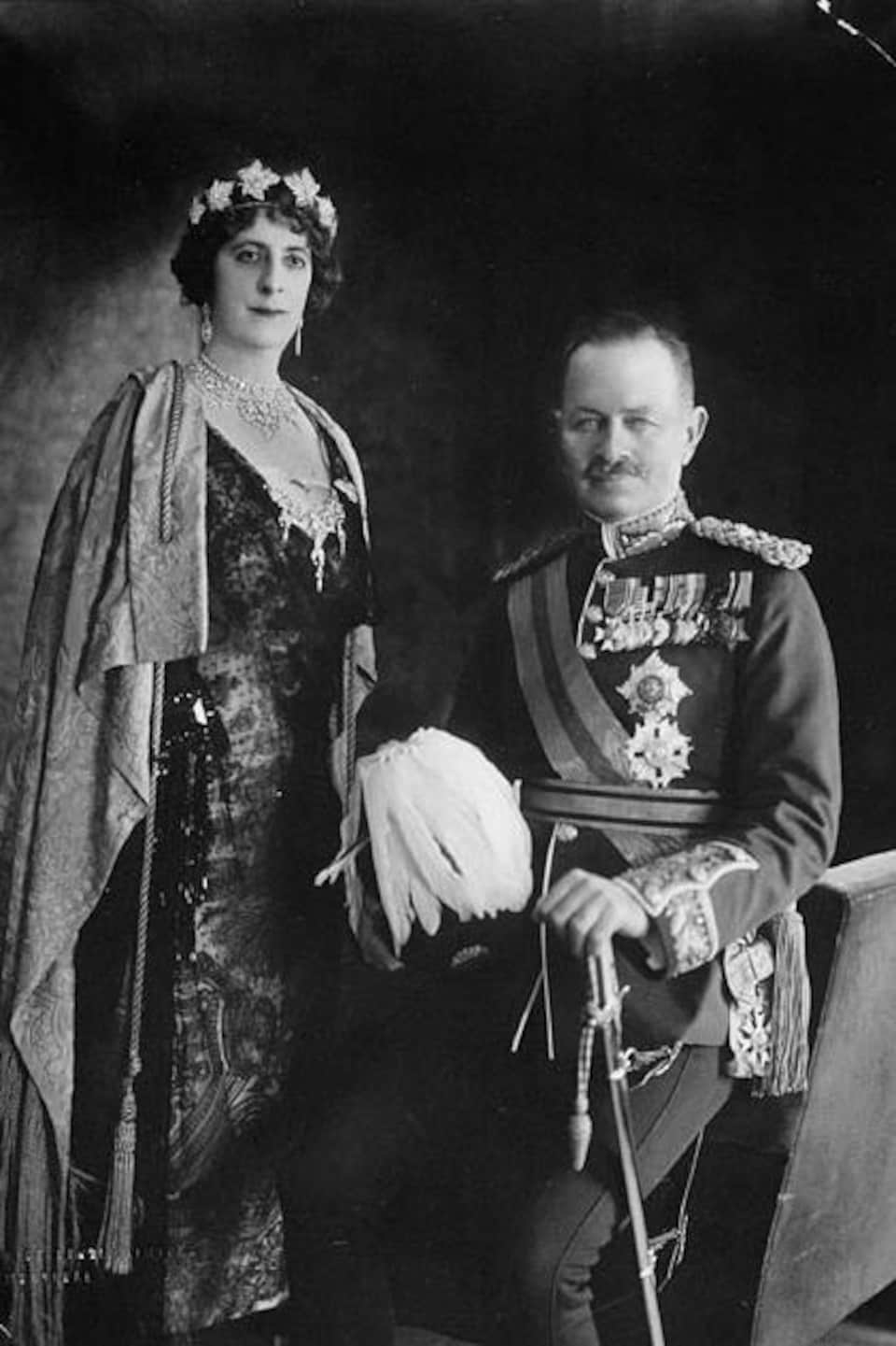 Julian Byng et Lady Evelyn Byng en 1922