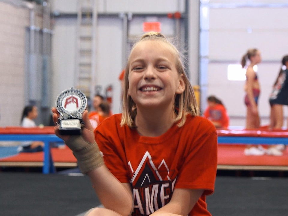 L'athlète de cheerleading Alice Gagnon