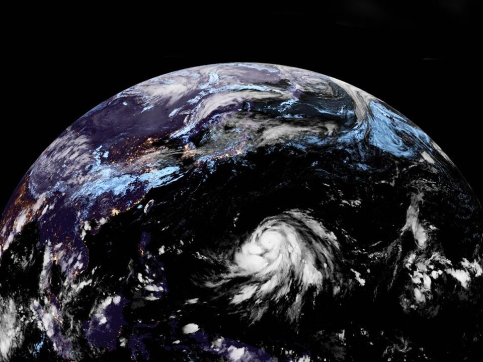 Le typhon Hagibis vu de l'espace