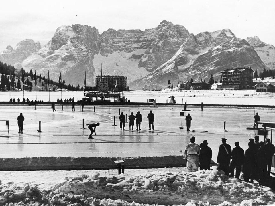 Le patinage de vitesse lors des Jeux olympiques de 1956 à Cortina d'Ampezzo