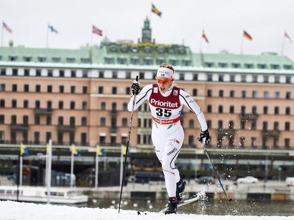 La Suédoise Jennie Öberg lors de la Coupe du monde de ski de fond à Stockholm