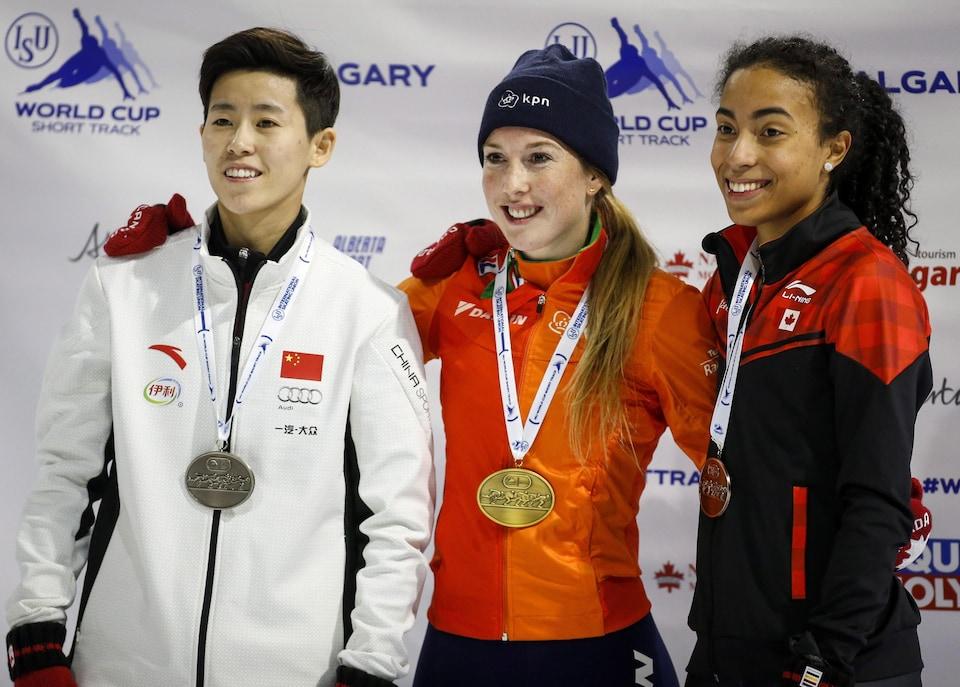 Fan Kexin, Lara Van Ruijven et Alyson Charles