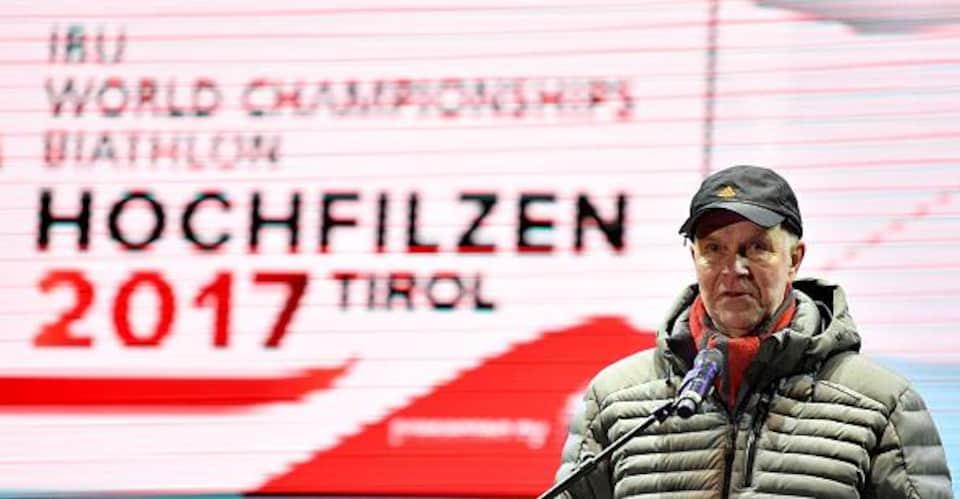Anders Besseberg aux Championnats du monde de biathlon en 2017