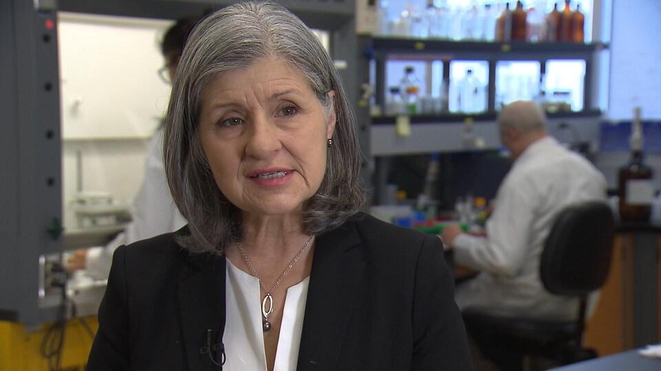 Christiane Ayotte, directrice du laboratoire de contrôle du dopage de l'Institut Armand Frappier de l'INRS