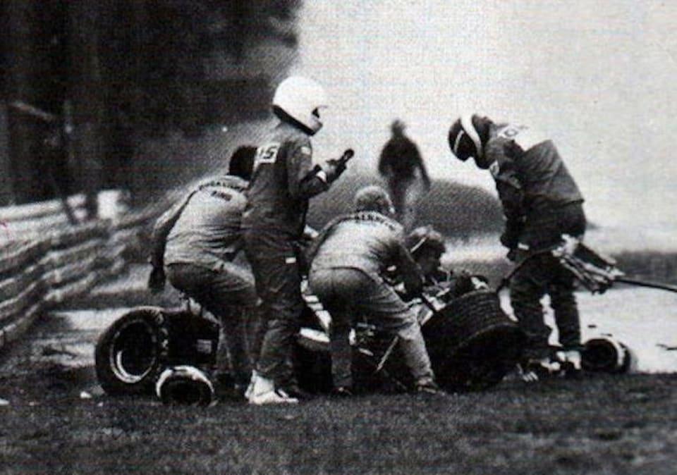 Didier Pironi accidenté en Allemagne en 1982