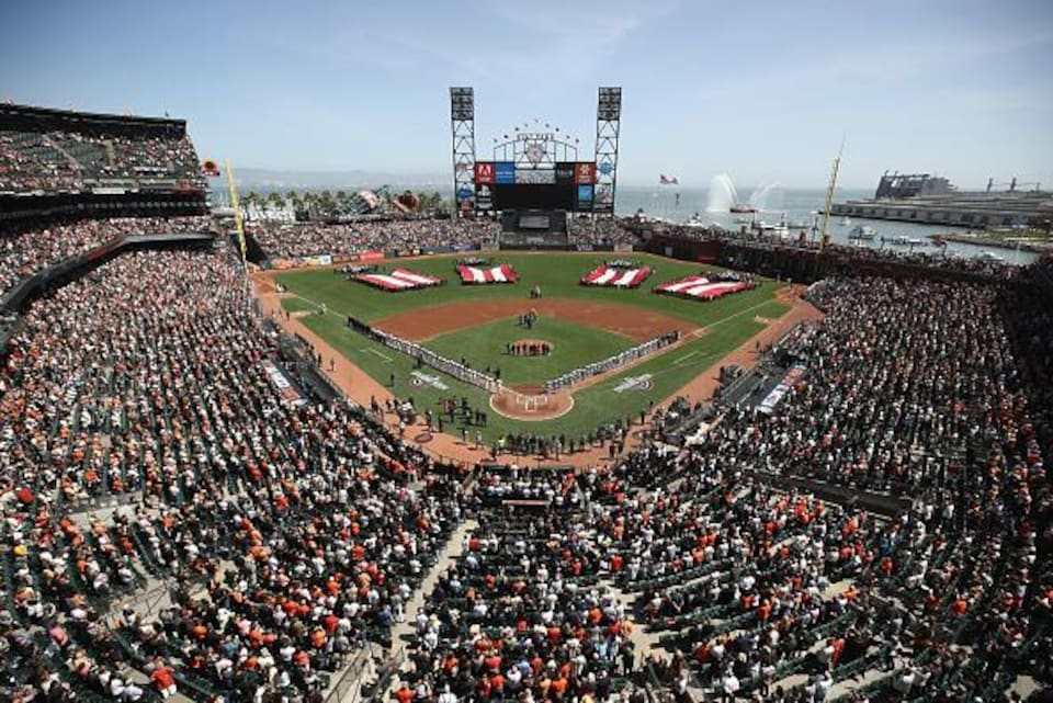 Le stade des Giants de San Francisco lors d'un match contre les Mariners de Seattle