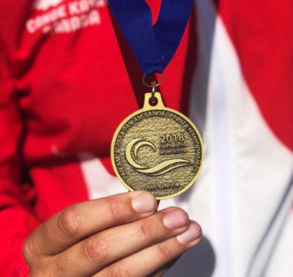 La médaille d'or de Katie Vincent en C2-500 m des Championnats panaméricains de vitesse en canoë-kayak