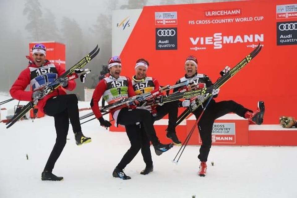 Len Valjas, Alex Harvey, Knute Johnsgaard et Devon Kershaw
