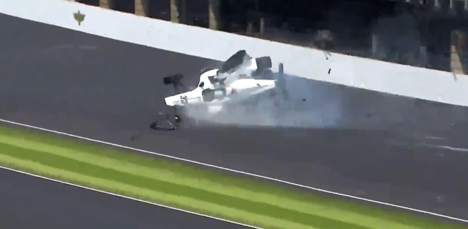 Kyle Kaiser (Kyle K Racing) accidenté à Indianapolis