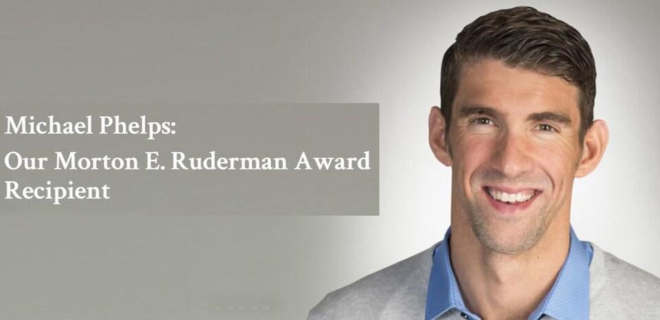 Michael Phelps, récipiendaire du prix Morton E. Ruderman