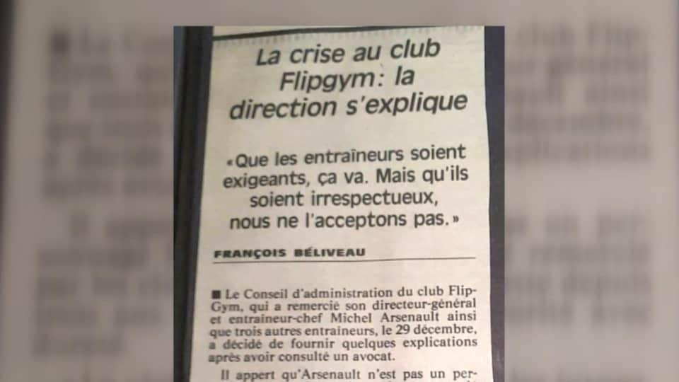 Extrait de La Presse, 10 janvier 1994