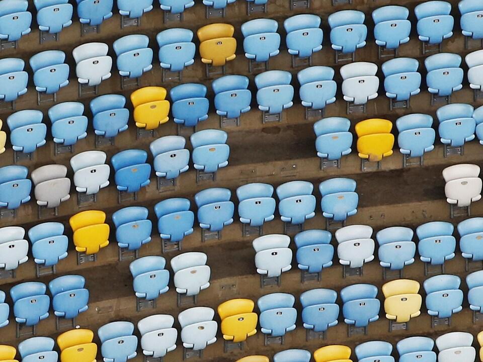 Des sièges ont disparu au stade Maracana