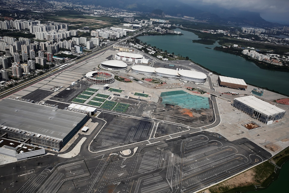 Vue aérienne du Parc olympique des Jeux de Rio