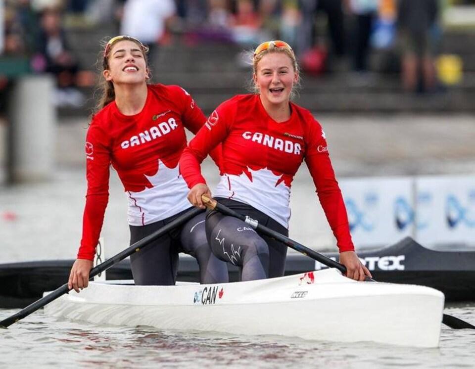 Julia Lilley Osende (gauche) et Sophia Jensen (droite)