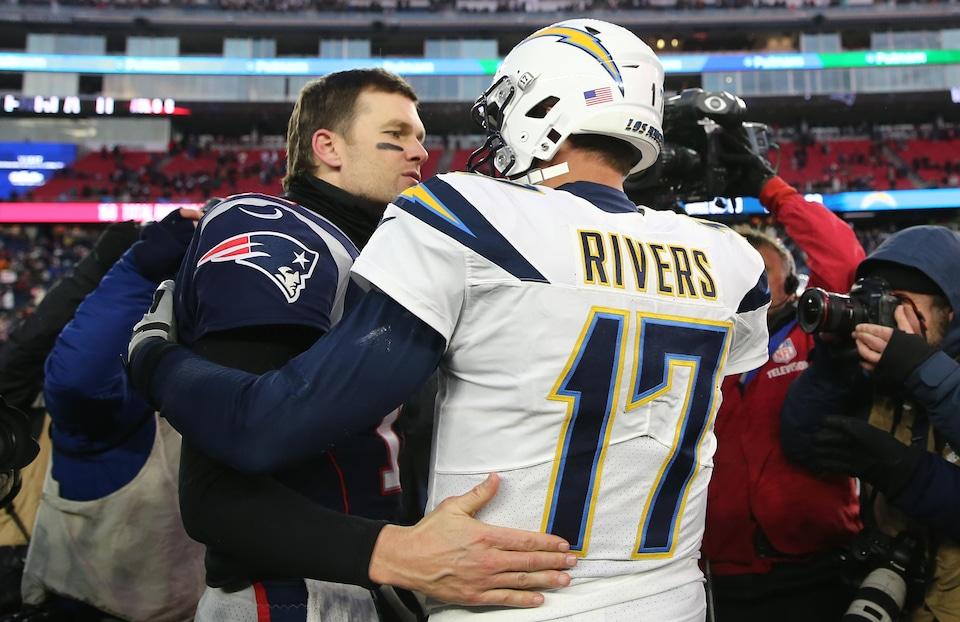 Tom Brady (no 12) et Philip Rivers (no 17)