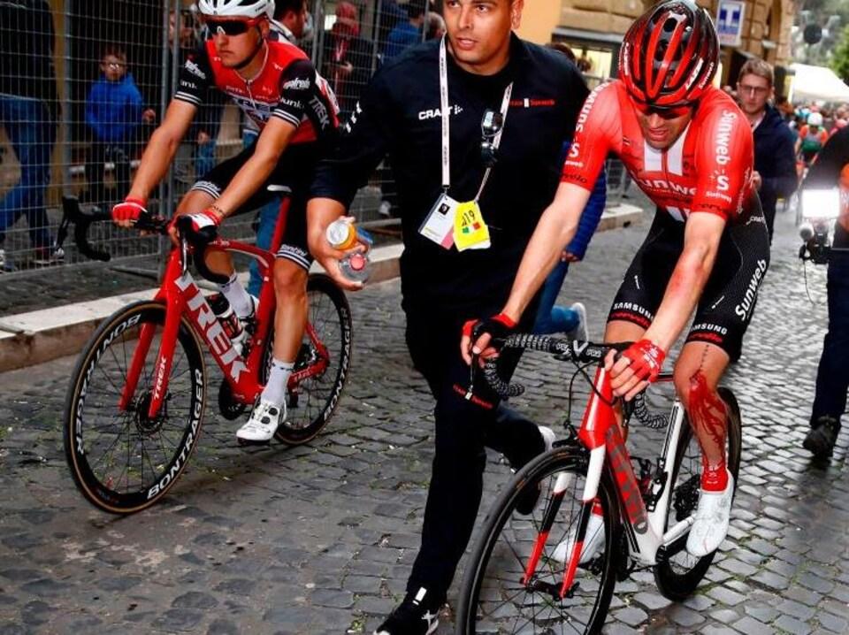 Tom Dumoulin à l'arrivée de la quatrième étape du Tour d'Italie