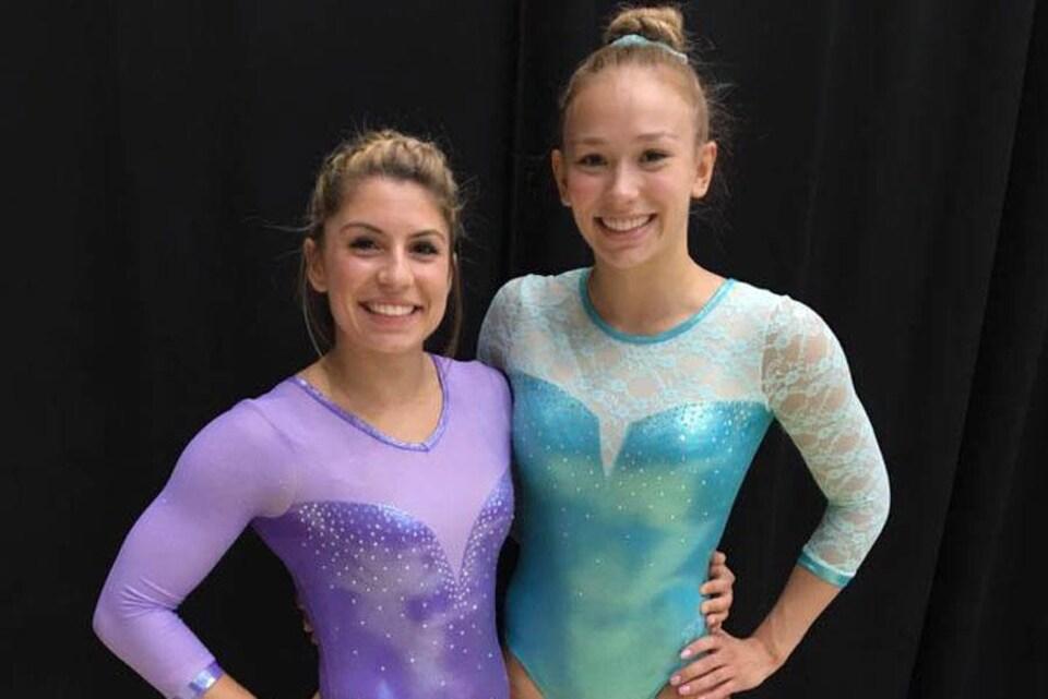 Les trampolinistes Sophiane Méthot et Sarah Milette