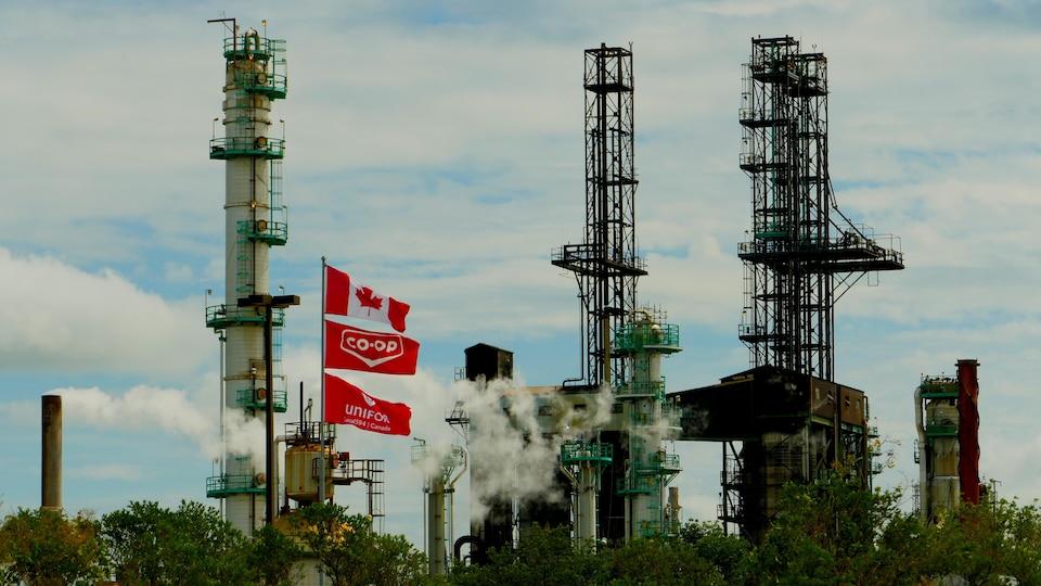 Le complexe de la raffinerie Co-op de Regina.