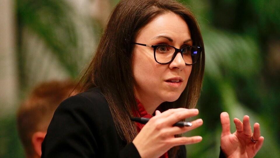 Émilie Villeneuve, membre du comité exécutif à l'hôtel de ville de Québec.