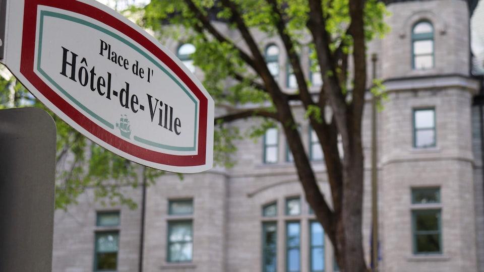 Façade de l'hôtel de ville de Québec.