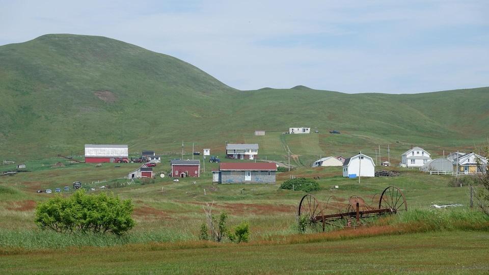 Un paysage de l'île d'Entrée avec le Big Hill
