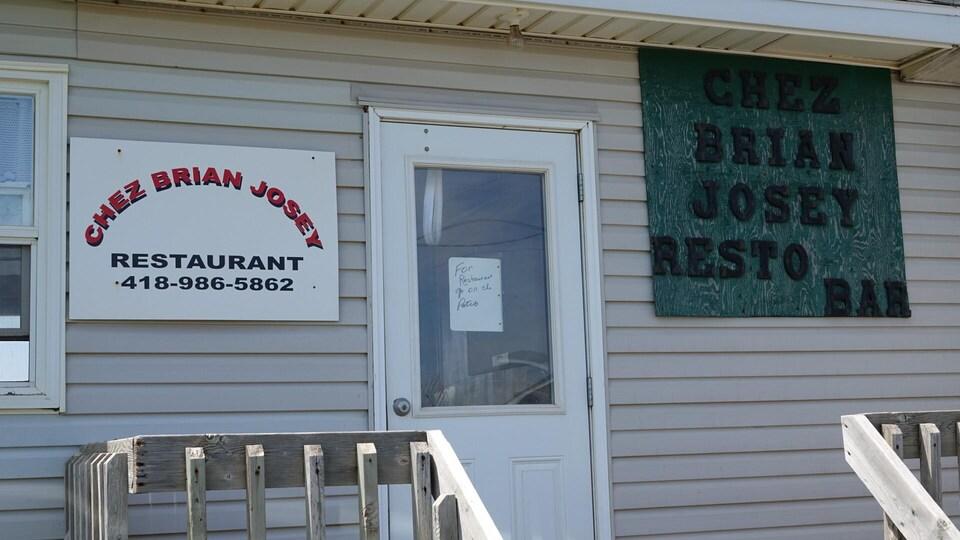 Façade du restaurant Chez Brian Josey