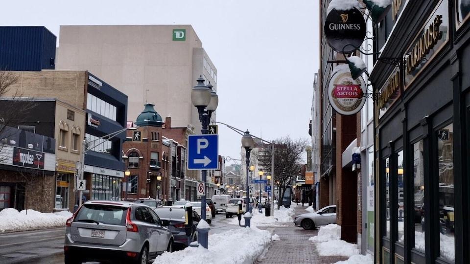 Le centre-ville de Moncton, en janvier 2021.