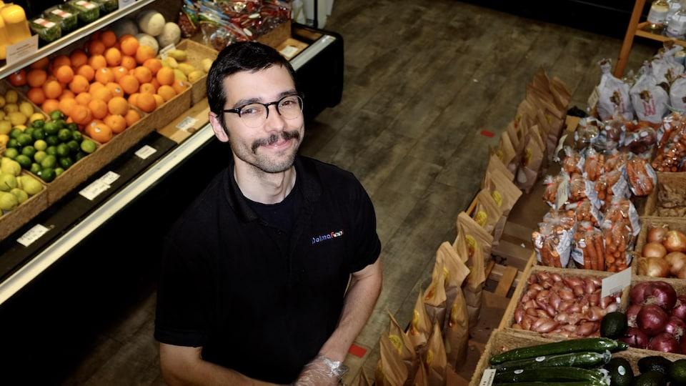 Marcel LeBlanc, commis à l'épicerie Dolma de Moncton