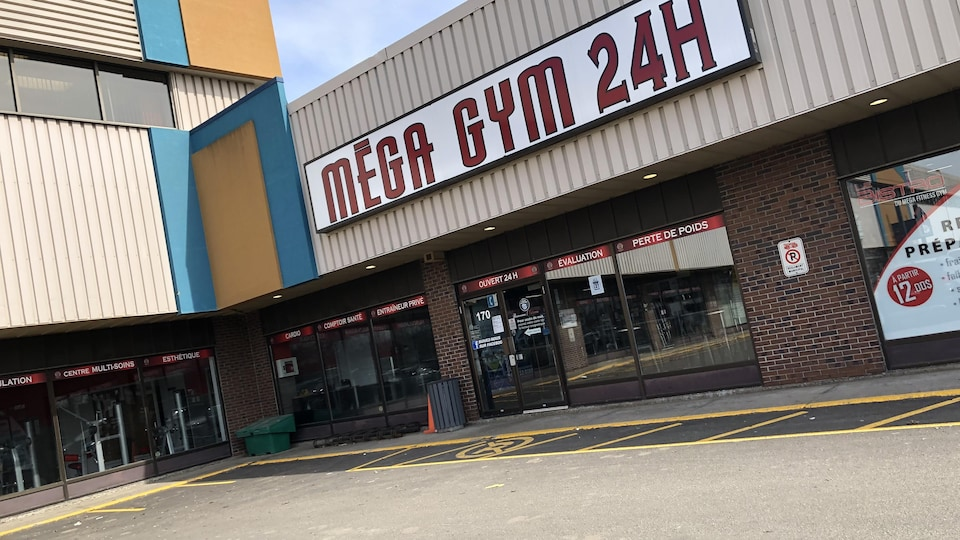 La façade du Mega Fitness Gym.