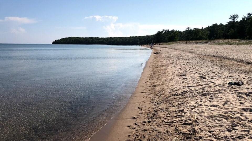 Le parc provincial Pancake Bay, lac Supérieur, Ontario.
