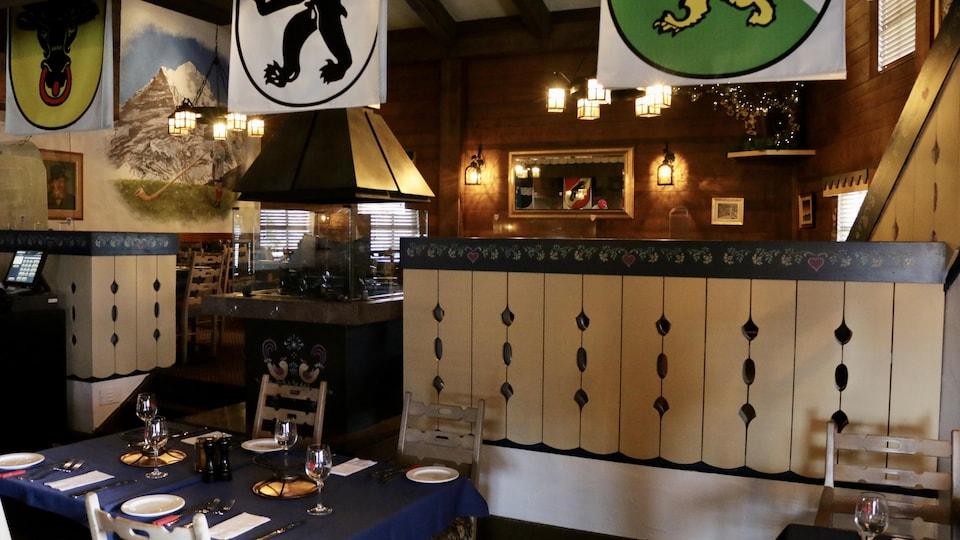 Le comptoir du restaurant La Tyrolienne.