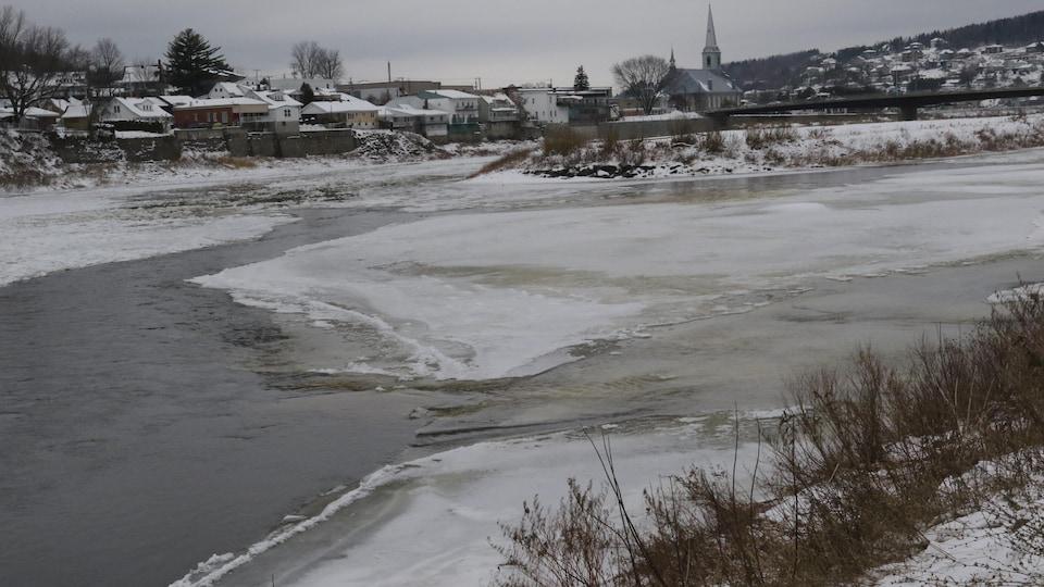 La rivière Chaudière en novembre 2019