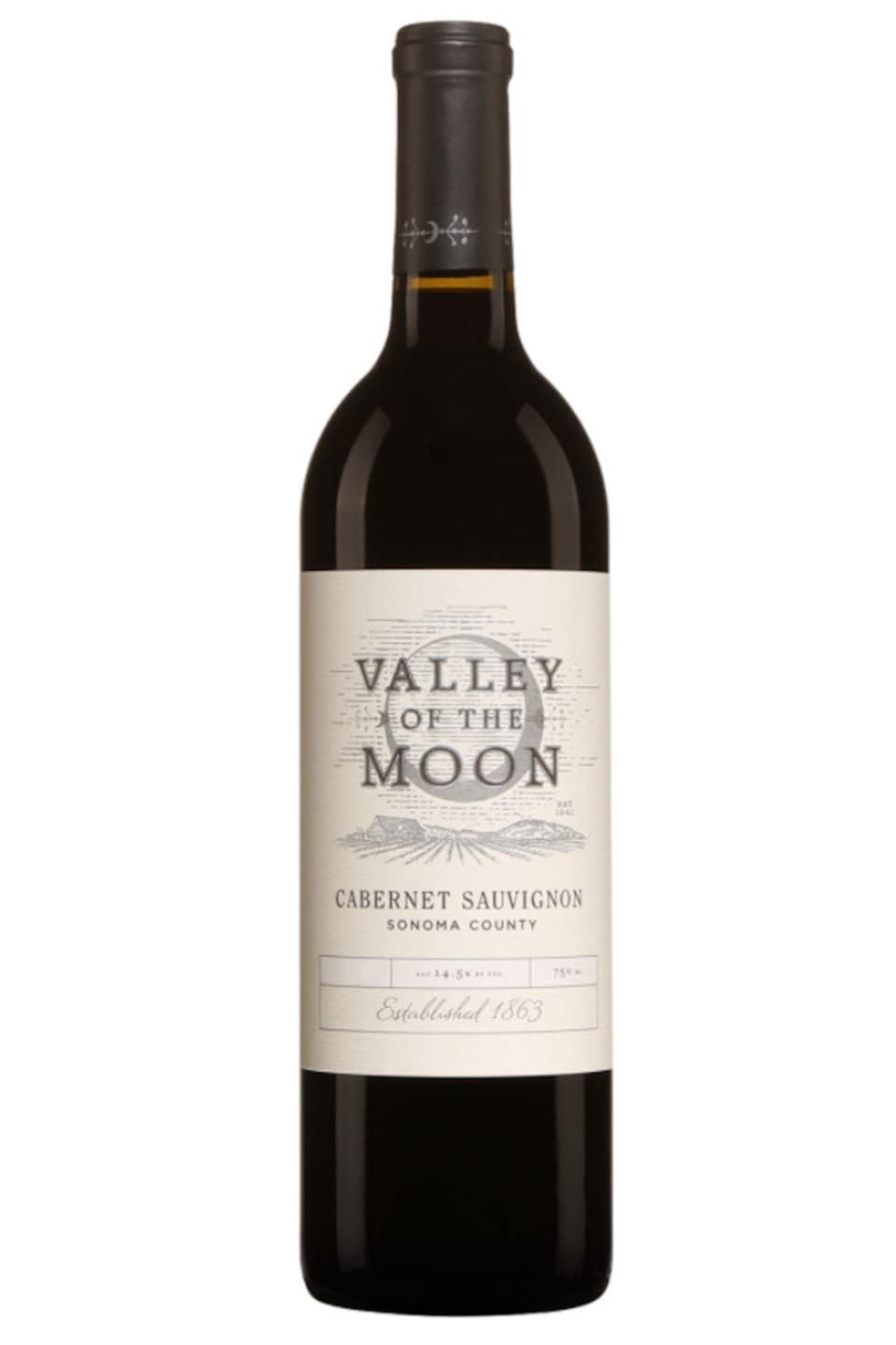 Bouteille de vin rouge.