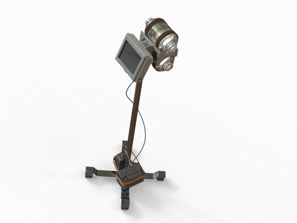 Prototype d'un respirateur artificiel mis au point par l'équipe ''The Lung Carburator''