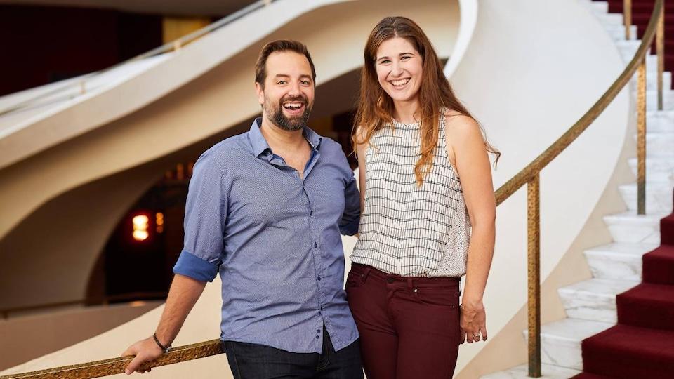La baryton Étienne Dupuis et la soprano Nicole Car