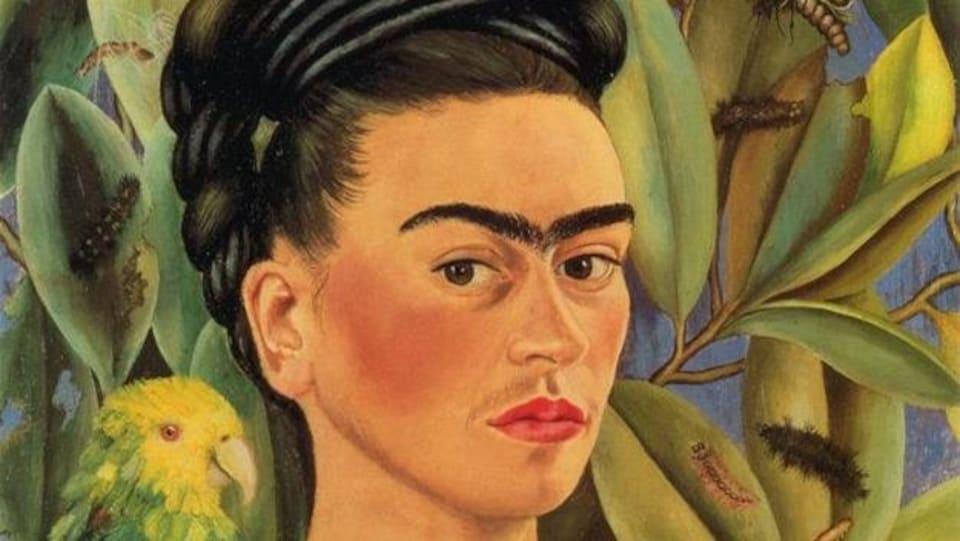 Tableau coloré représentant Frida Kahlo