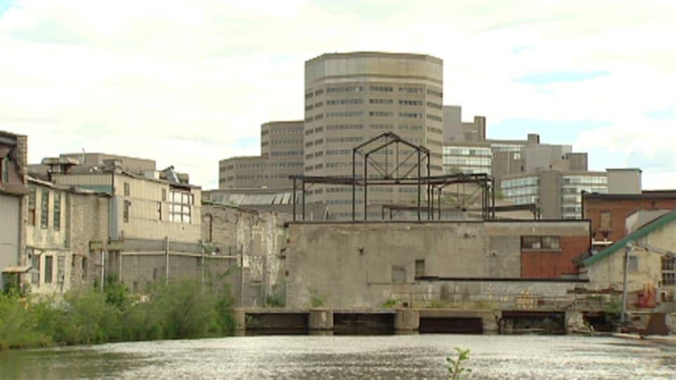 Site de l'ancienne usine Domtar à Gatineau. (Archives)