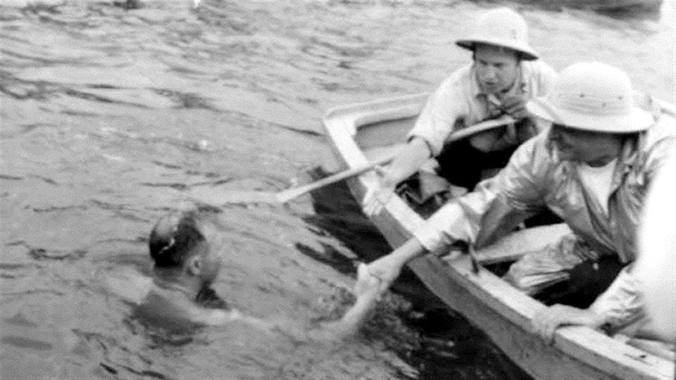 Le premier vainqueur de la Traversée du lac Saint-Jean, Jacques Amyot