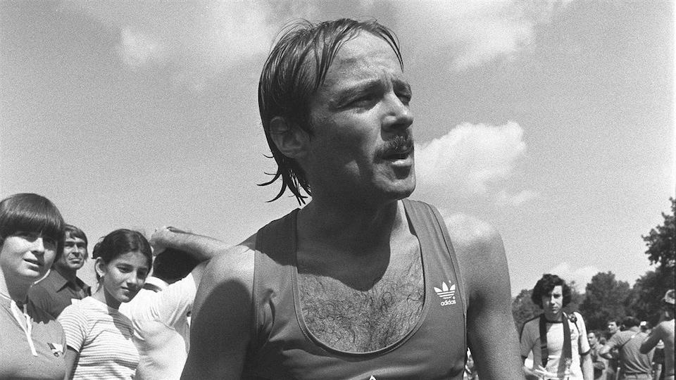Un coureur du premier Marathon de Montréal en août 1979