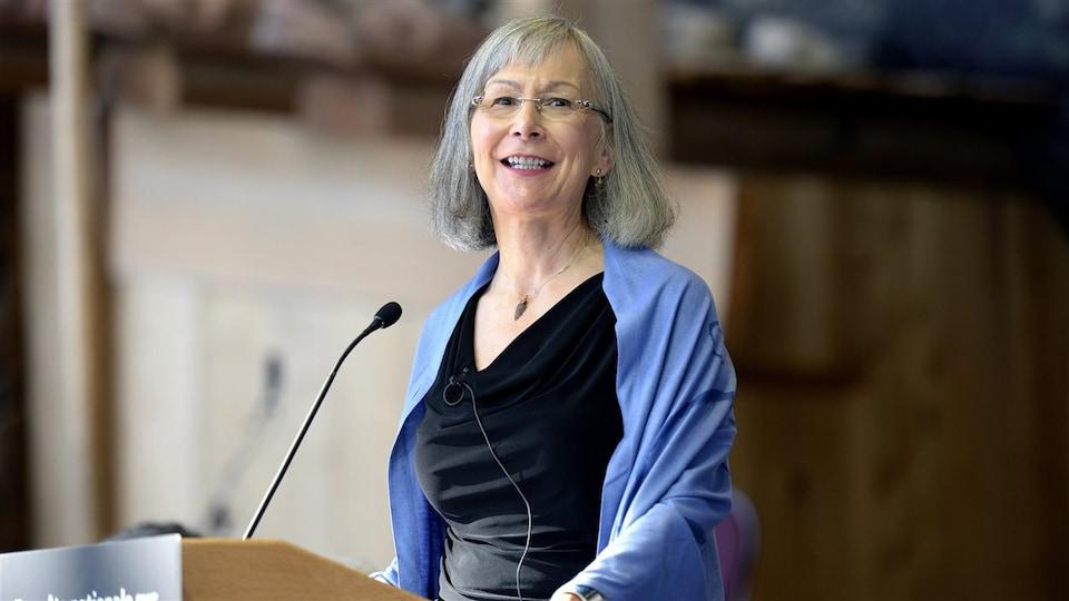 La juge Marion Buller, commissaire en chef de l'Enquête nationale sur les femmes et les filles autochtones disparues et assassinées.