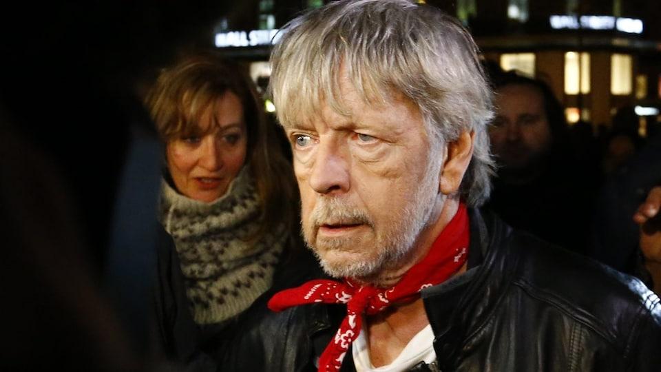 Le chanteur français Renaud, le 7 janvier 2016 à Paris.